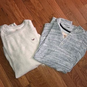 OFFER NWOT Two Men's Hollister Long Sleeves